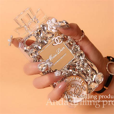 Chanel Parfum Swarovski For Iphone 6 buy wholesale bling swarovski chanel perfume bottle rhinestone covers for iphone 6 plus