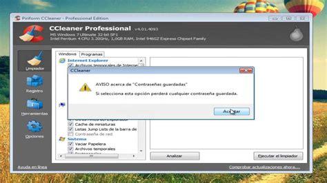 ccleaner youtube 2013 descargar e instalar ccleaner professional 2013 en espa 241 ol