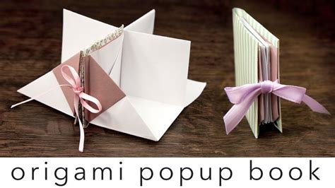 book origami tutorial origami popup book tutorial crafts and kawaii