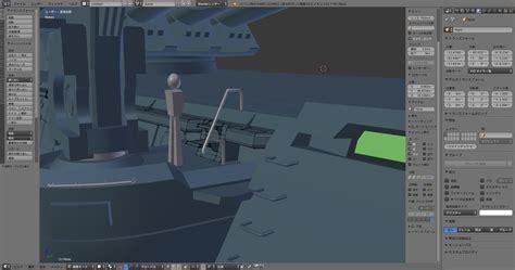 Blender Yamato blenderで宇宙戦艦ヤマト カタパルト廻りその3