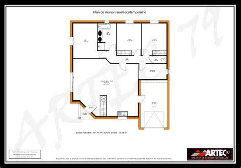 plan de maison 100m2 3 chambres plan maison plain pied 100m2 3 chambres 7 plans de
