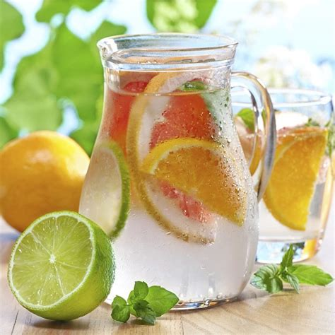 Grapefruit Orange Lemon Detox by Recipe Grapefruit Orange Detox Water With Mint Fitnessto