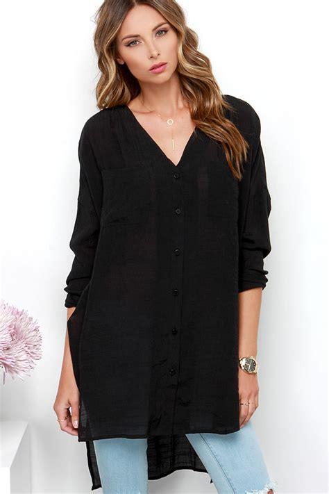 tunic santika black jumbo chic black top tunic top sleeve top 48 00