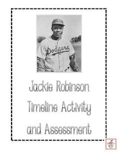 jackie robinson baseball card template jackie robinson timeline cut and paste freebie i am
