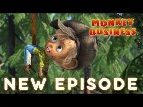 masha   bear monkey business episode    kids