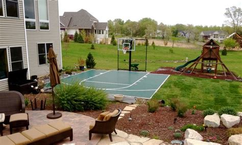 small basketball court in backyard outdoor game courts for all sports in small backyard space