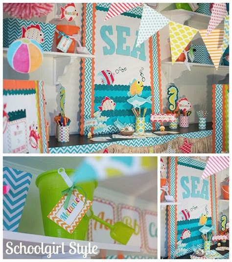 themed classroom decorations starfish shark chevron classroom decor by
