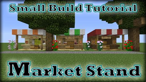 how to build a shop minecraft small build tutorial market stand youtube