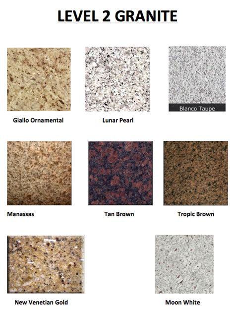 level 1 granite colors level 2 granite www windsonglife ideas for the house
