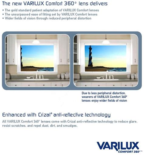varilux comfort 360 progressive lenses varilux comfort 360