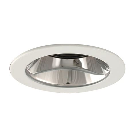 baffle trim recessed lighting shop galaxy chrome baffle recessed light trim fits