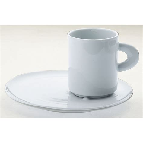 Plate Mug snack plate with mug porcelain perla casa bugatti