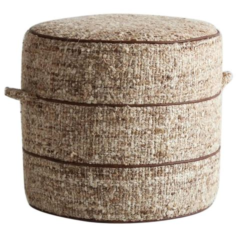 small upholstered ottoman nickey kehoe collection small round hassock upholstered in