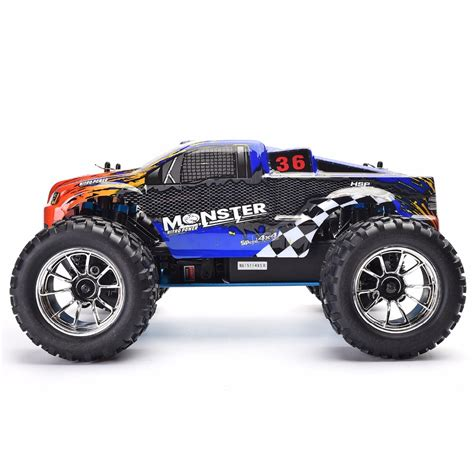 rc nitro monster truck hsp rc truck 1 10 scale models nitro gas power off road