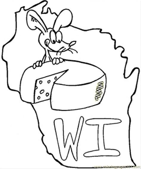 Wisconsin Coloring Pages wisconsin state flag coloring page az coloring pages