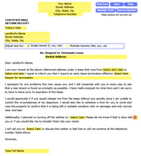 Lease Breaking Letter Landlord Letter For Breaking A Lease Early To Landlord