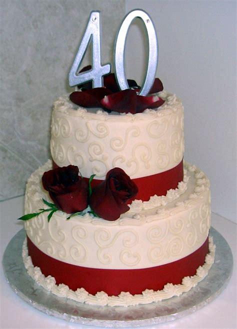 wedding anniversary cake ideas 40th wedding anniversary cake ideas idea in 2017