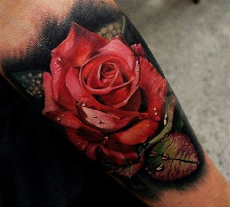 rose realism tattoo beautiful realistic tattooimages biz