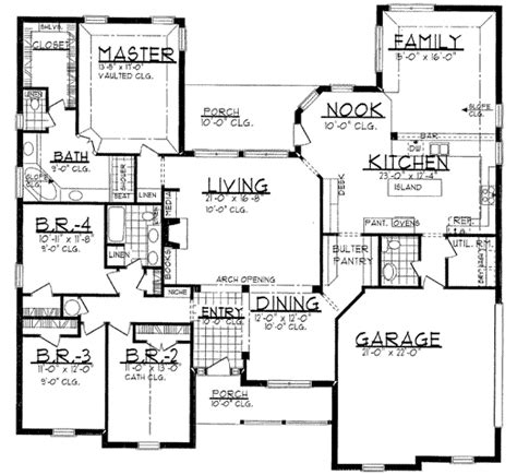 Traditional Style House Plan 4 Beds 2 5 Baths 2700 Sq Ft Plan 62 139