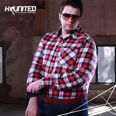 big mens shirts regluar fit plad button shirt cotton