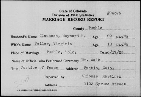 Colorado State Marriage Records A Review Of The Familysearch Colorado Statewide Marriage Index 1900 1939 Genealogyblog
