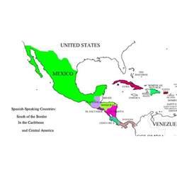 Central America Map In Spanish by Gallery For Gt Spanish Speaking Countries And Capitals Map Quiz