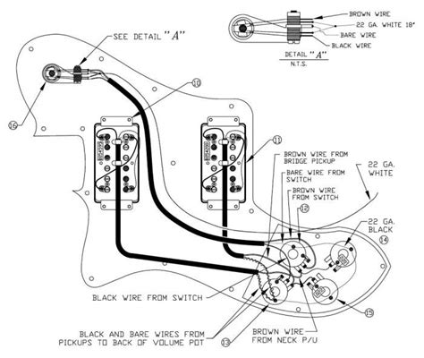 telecaster with humbuckers wiring diagram standard