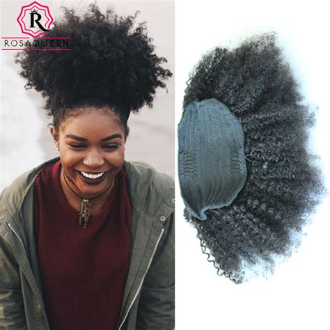 curly ponytail for afro 7a afro kinky curly ponytail peruvian virgin hair clipin