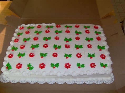 sheet cakes christmas decorated pictures sheet cake cakecentral