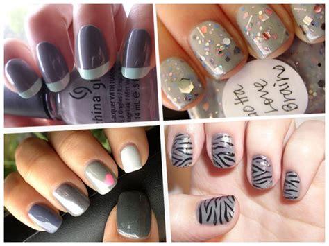 imagenes de uñas pintadas en gris manicure ideas esmalte gris fotos actitudfem