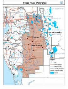 where is river florida on a map peace river watershed n d