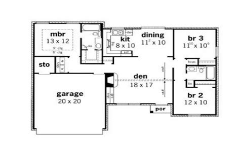 Small 3 Bedroom House Floor Plans Simple Small House Floor Plans 3 Bedroom Simple Small House Design 3 Bedroom Cottage Plans