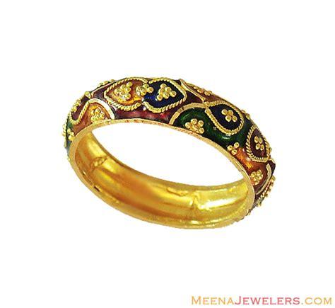Kunci Ring Set 6 22 Mm India 22k indian meenakari band rilg12449 22k gold indian