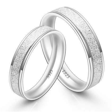 his hers matching sterling silver rings set