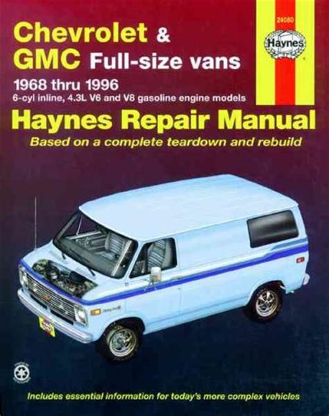 service manual repair manual for a 1996 buick hearse chevrolet gmc vans 1968 1996 haynes service repair manual