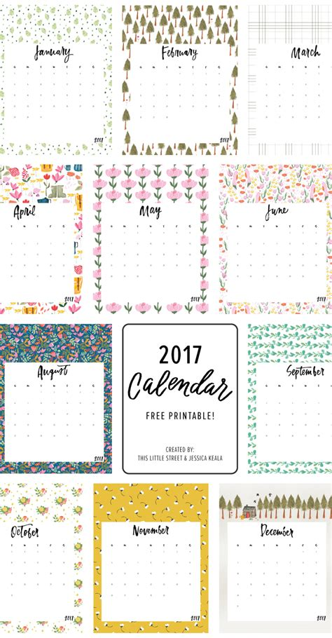 make free calendars online printable printable free 2017 calendar this little street