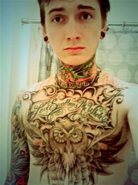 tattoo chest neck chest tattoos men the arts