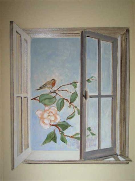 Bien Peinture Murale Salle De Bain #6: Trompe_l_oeil_oiseau_ala_fenetre.jpg