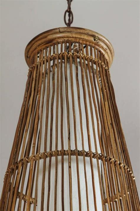 Bamboo Pendant L by Bamboo Hanging Light At 1stdibs