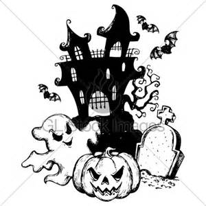 halloween theme drawing 183 gl stock images