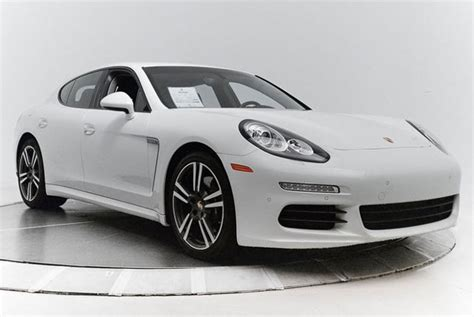 white porsche panamera certified pre owned 2014 porsche panamera in white