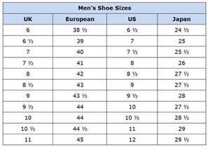 Men shoes sizes new calendar template site