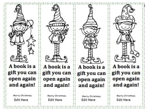 printable christmas bookmarks to color printables beyond survival in a school library