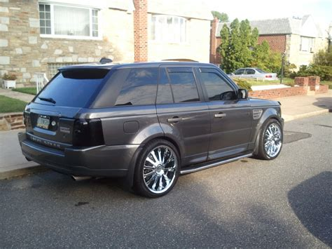 chrome range rover sport 22 chrome structure sa12 wheels on a 2006 land rover