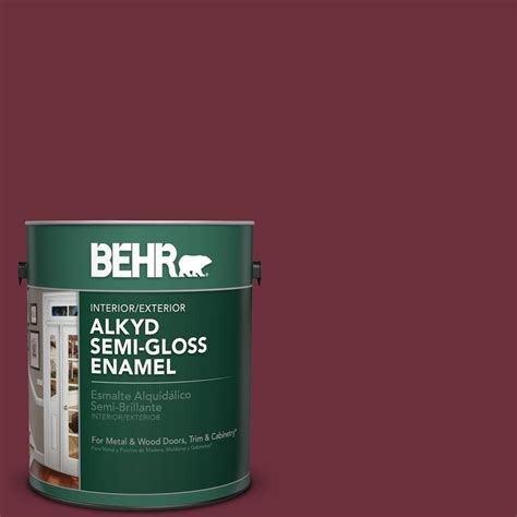 behr paint colors cranberry behr 1 gal bxc 90 cranberry semi gloss enamel alkyd