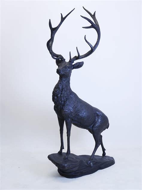 garten deko hirsch bronze figur hirsch lebensgro 223 garten und deko 2282 ebay