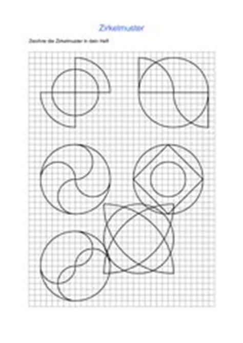 Muster Fortsetzen Vorlagen 4teachers Zirkelmuster Arbeitsbl 228 Tter Und Vorlagen
