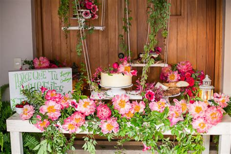 table shower san jose coral charm peony dessert table wedding ideas 100 layer cake