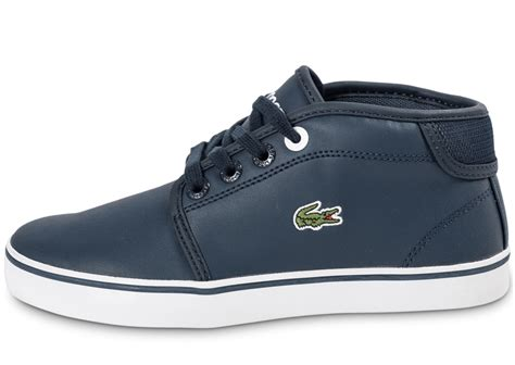Chaussures Lacoste by Lacoste Thill Leather Enfant Bleu Marine Chaussures Chaussures Chausport