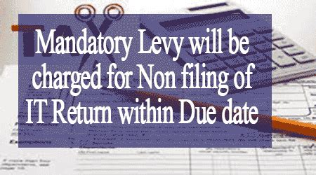 section 271f mandatory levy will be charged for non filing of it return